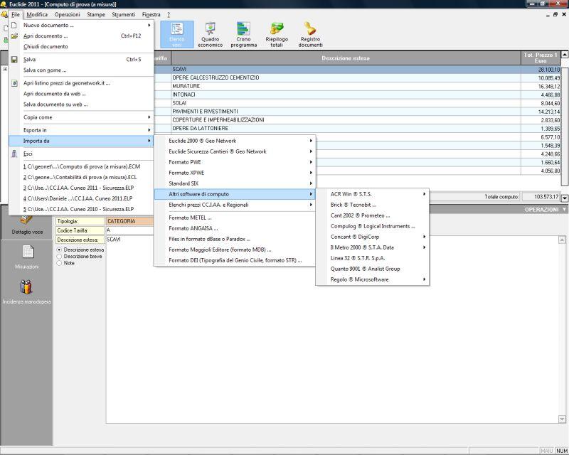 Collegamenti con altri software