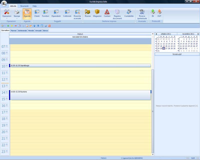 1bb118493a L'agenda di Euclide Impresa Edile permette di visualizzare ed organizzare  gli appuntamenti dell'utente in maniera semplice e funzionale.
