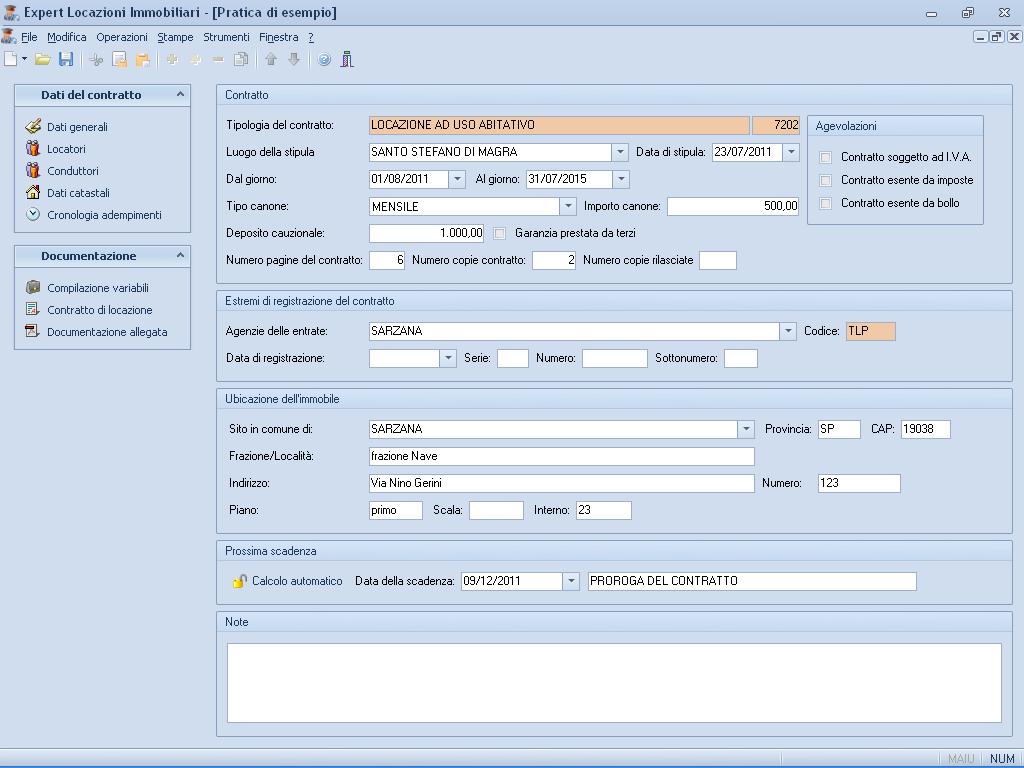Expert locazioni immobiliari software per la gestione di for F24 elide codice identificativo