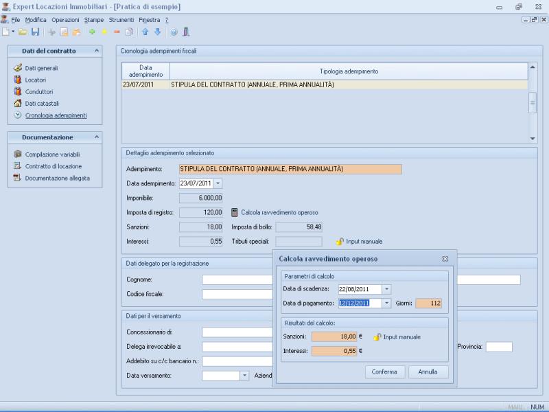 Expert locazioni immobiliari software per la gestione di for Calcola imposta di registro