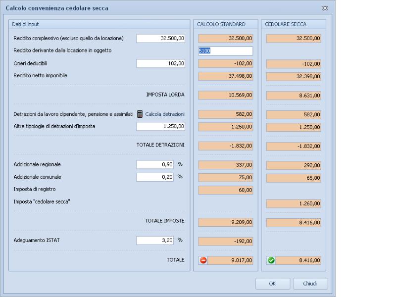 Expert locazioni immobiliari software per la gestione di for Cedolare secca calcolo