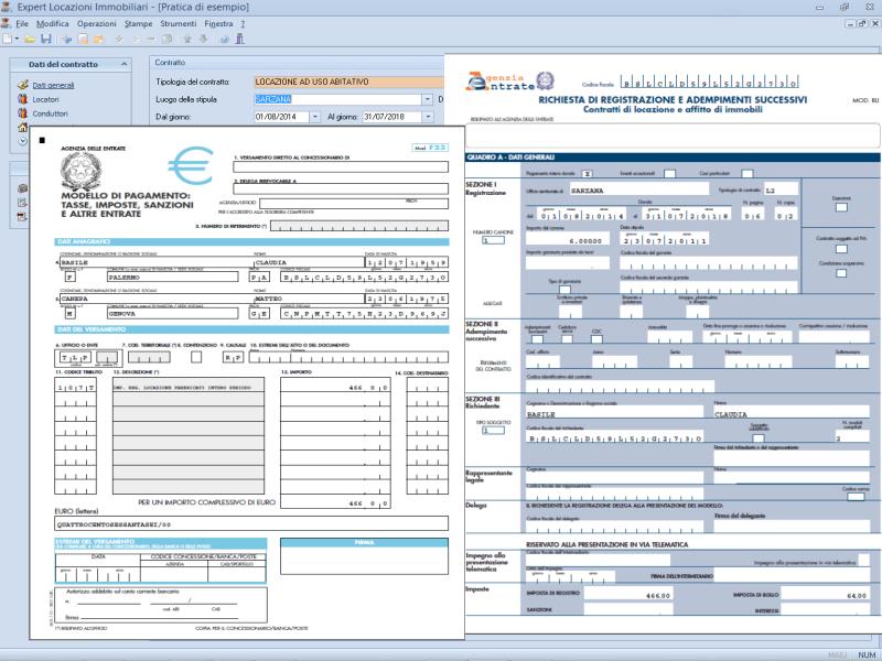 Expert locazioni immobiliari software per la gestione di - Contratto locazione temporaneo cedolare secca ...