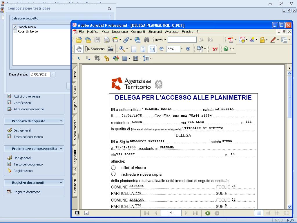 Expert trasferimenti immobiliari software per la for Software per planimetrie