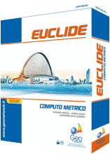 Euclide Computo & Contabilità Software per la gestione dei lavori pubblici e privati. Comprende: analisi dei prezzi, computi metrici, perizie di variante, quadri di raffronto, cronoprogramma dei lavori, disciplinare tecnico e contabilità dei lavori pubblici.