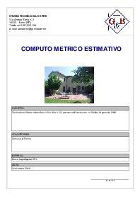 Euclide computo contabilit software per la gestione - Computo metrico estimativo esempio casa ...
